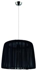 LAMPA wisząca żyrandol Walc 8717 Duolla abażur tkanina czarna 1xE27 40W
