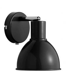 Czarny kinkiet w stylu skandynawskim - Nordlux POP E27 60W