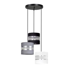 Lampa wisząca abażury regulowana nowoczesna LARO 3 BL MIX PREMIUM Emibig 3xE27 60W
