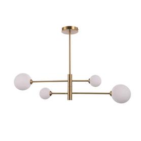 Lampa wisząca DORADO 4 złota białe kule LOFT 4xG9 40W Light Prestige