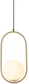Art Deco Elipse 60cm - lampa wisząca złota kula ball glass biała E27 40W