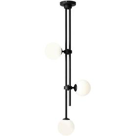 Lampa sufitowa wisząca HARMONY 3 BLACK Aldex czarna sztyca ball kule biała 3xE14 40W