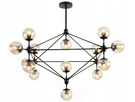 Lampa sufitowa wisząca METAL INDUSTRIAL CZARNA XXL APP265-15C TooLight glass ball LOFT 15xE27