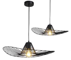 Lampa sufitowa wisząca Polux ABANO druciak LOFT zwis CZARNA E27 120cm