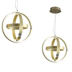 Lampa wisząca SIRIUS 80W ML6187 Milagro gold złota metal kryształ OKRĄGŁA LED