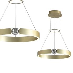 Lampa wisząca SIRIUS 26W ML6186 Milagro gold złota metal kryształ OKRĄGŁA LED