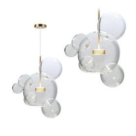 LAMPA SUFITOWA WISZĄCA SZKLANE KULE APP650-CP okrągła glass kula MODERN LED