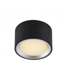 LAMPA sufitowa plafon Fallon LED Nordlux Moodmaker™ - lampa natynkowa - czarna / stal szczotkowana