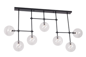 Lampa sufitowa wisząca Lollipop Max Light czarna szkło kule ball glass 7xG9 40W