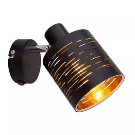 Lampa ścienna KINKIET TONNO GLOBO czarny metal 1xE14